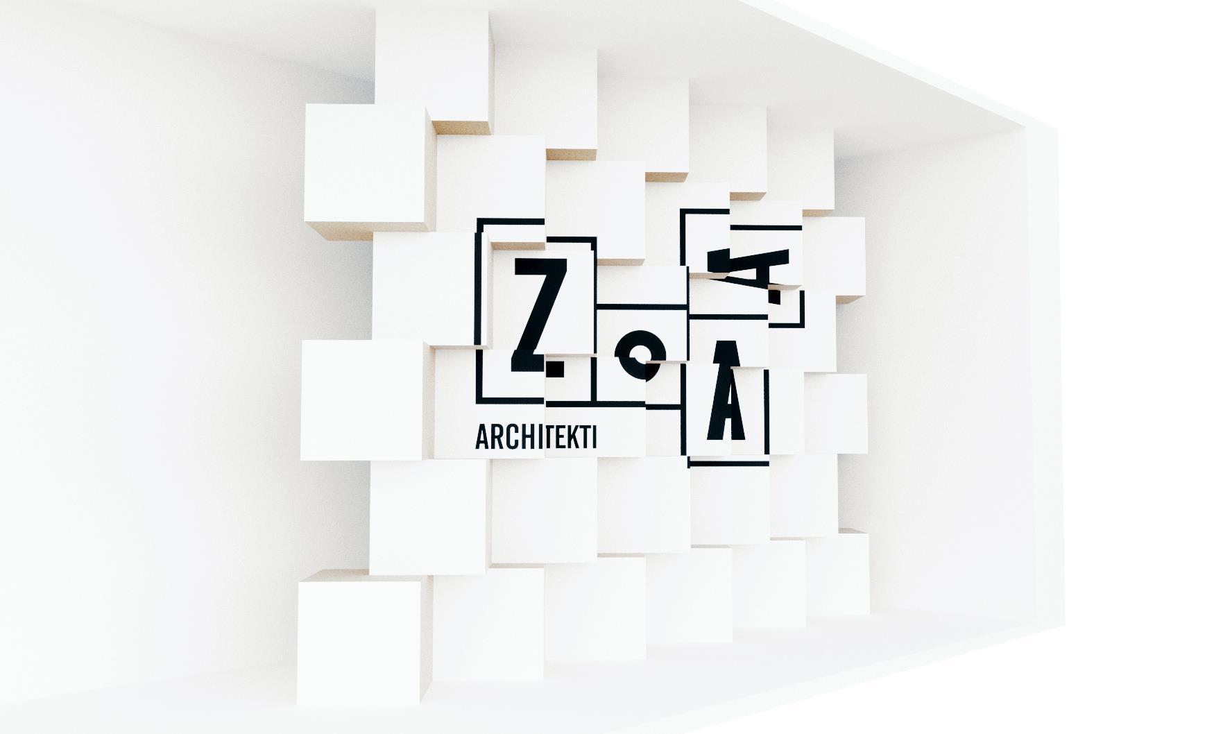 Vizualizace instalace ateliéru ZOAA pro PDW 2017