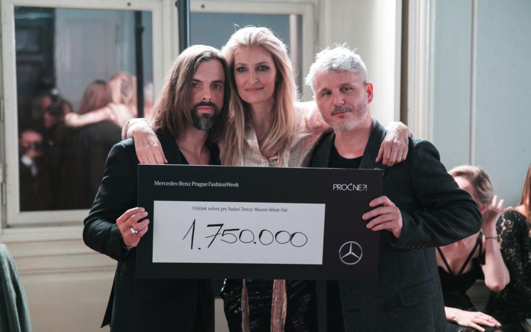 Výtěžek benefičního večera Mercedes-Benz Prague Fashion Week a magazínu PROČ NE?! Hospodářských novin podpoří Nadaci Terezy Maxové dětem částkou 1 750 000 korun