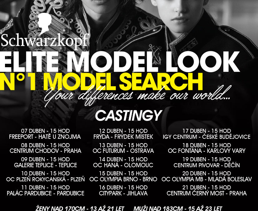 Agentura Elite Prague vyhlašuje castingy do nejprestižnější modelingové soutěže
